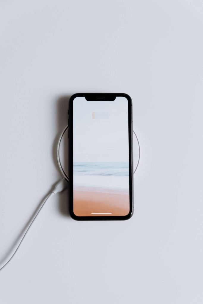 iphone on white background